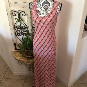 Red white and black maxi dress ( no brand label)
